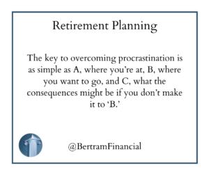 Retirement Procrastination - Bertram Financial