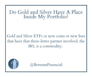 Quote about gold and silver ETFs - Michelle Bertram