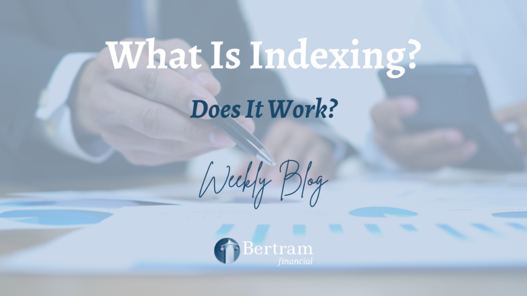 Man looking at graph - indexing - investment - bertram financial