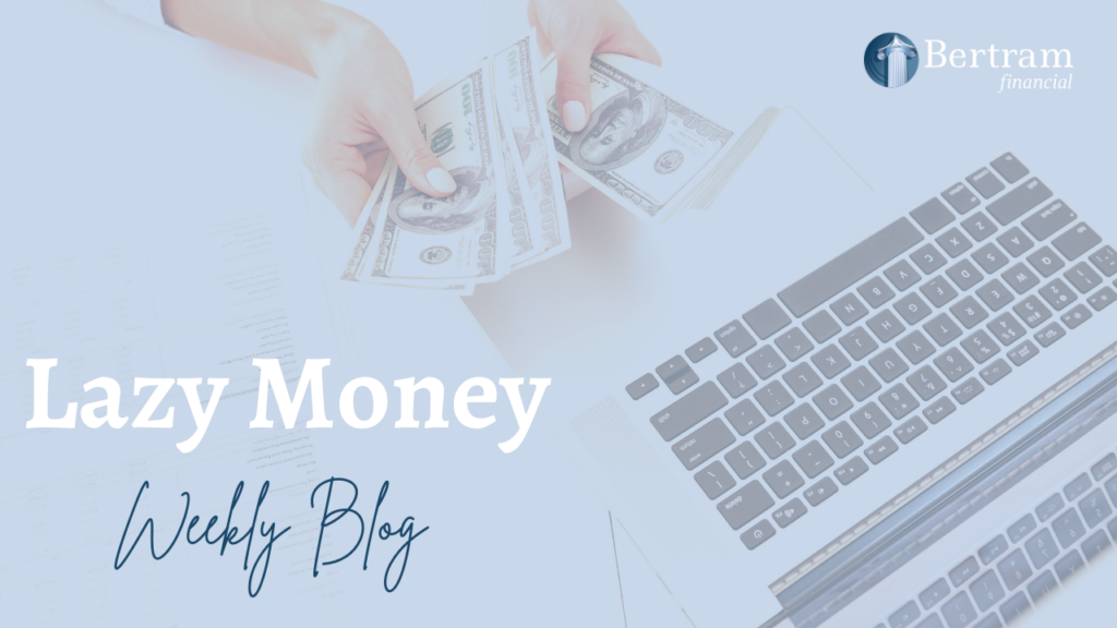 Image of laptop and money - bertram financial advisor