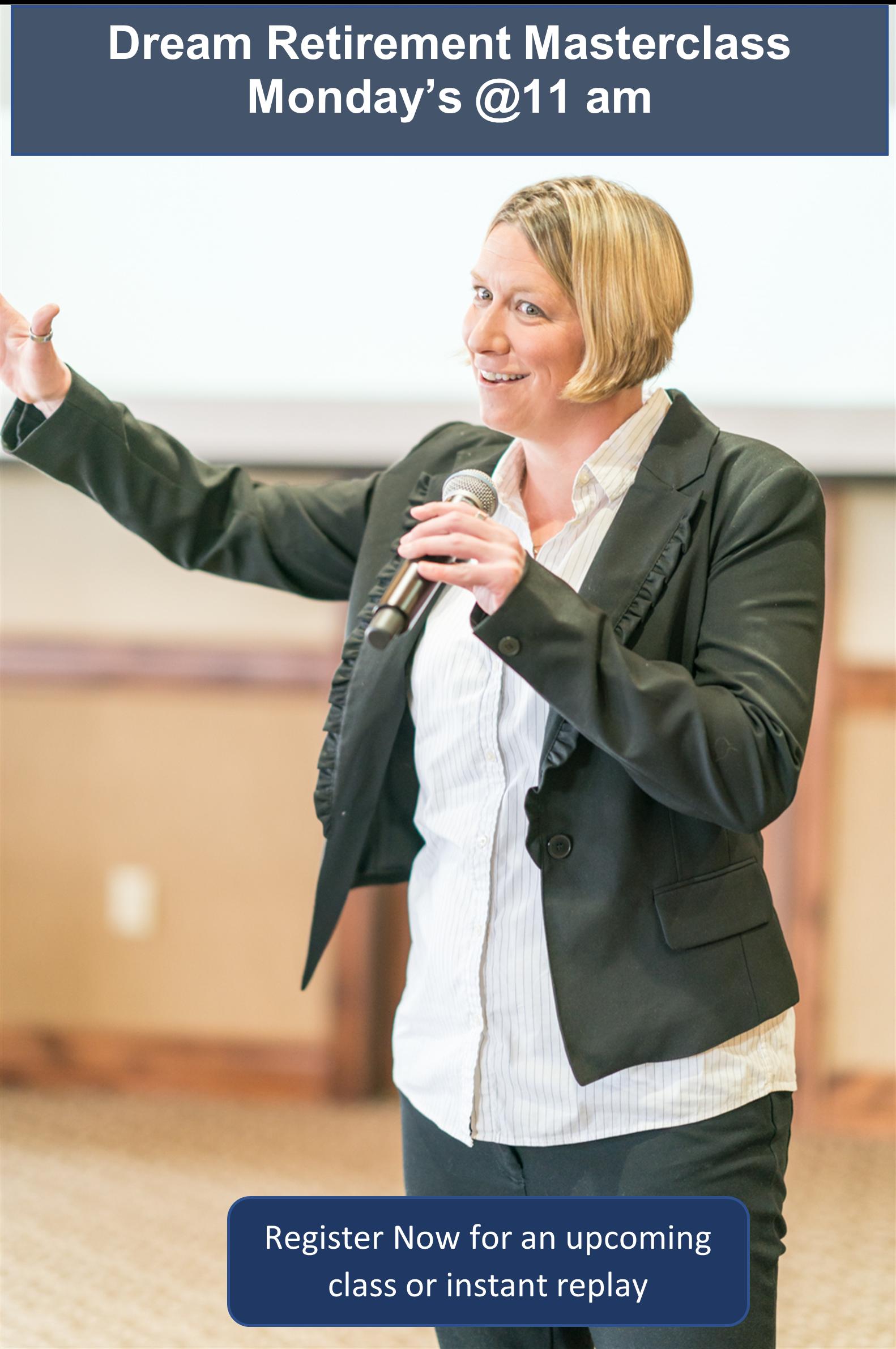 Michelle Bertram teaching the Retirement Masterclass